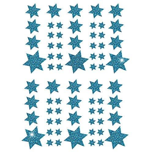 Oblique-Unique® Weihnachts Sterne Sticker Aufkleber - Deko Weihnachten - Farbe wählbar (Türkis)