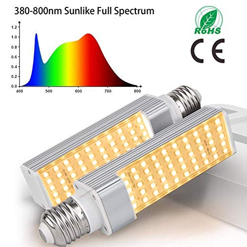 Preisvergleich Produktbild 300 W LED Doppeloptik-Lampe mit 2 Schalter für Innenpflanzen VEG und Bloom inklusive UV und IR 50w-bulbs 50w Sunlike Grow Light