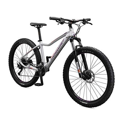 Mongoose Tyax Sport Adult Mountain Bike, 27.5-Inch Wheels, Tectonic T2 Aluminum Frame, Rigid Hardtail, Hydraulic Disc Brakes, Womens Small Frame, White