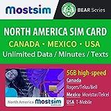 MOST SIM - T-Mobile SIM Card per gli USA, Canada e Messico, Alta Velocità Dati e Chiamate/Messaggi Illimitati – 15 Giorni