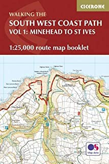 South West Coast Path Map Booklet - Minehead to St Ives: 1:25,000 OS Route Mapping