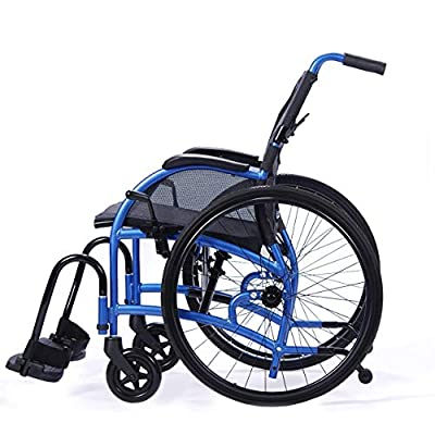 """Strongback Mobility 24"""" Wheels Lightweight Foldable Wheelchair, Built-in Adjustable Lumbar Support, Promotes a Healthy Spine, 18 Inch Seat Width, 2.0 Model"""