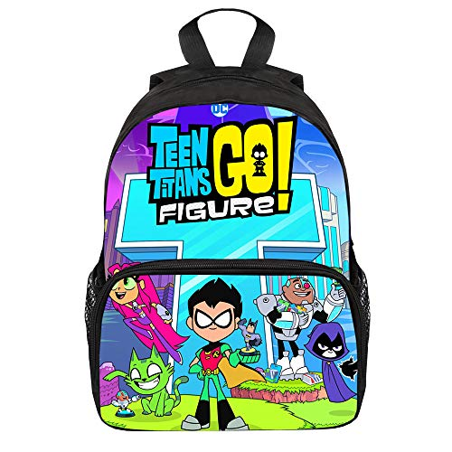 Teen Titans Go Casual Backpack Wild Style Children Backpacks for Boys and Girls Cartoon Safety Anti-Lost Strap Rucksack Unisex (Color : A05, Size : 25 X 11 X 34cm)