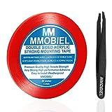 MMOBIEL 1mm Cinta adhesiva fuerte de acrílico doble cara para montaje, Largo: 30m Resistente a la intemperie y Removible