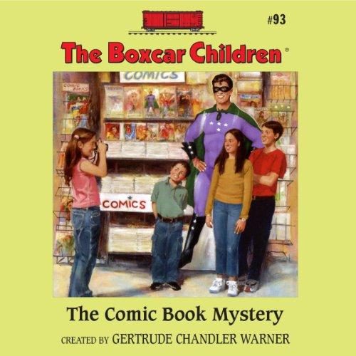 The Comic Book Mystery audiobook cover art