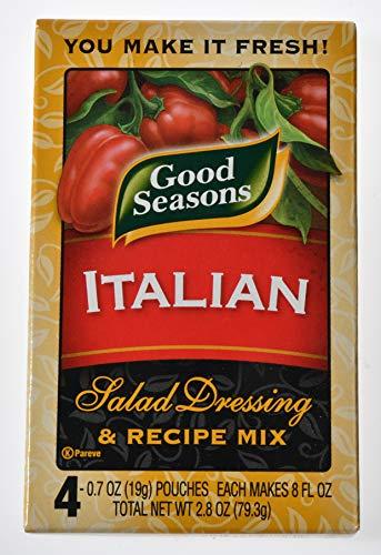 Good Seasons Salad Dressing & Recipe Mix, Italian All-Natural, 0.7 Ounce, 4 Count