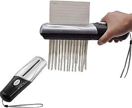 $52 Get CHENGL Handheld Mini Paper Shredder: Suitable for Desktop File/Paper Size 123mm / Support Paper A6 File or A4 File Folding/Support Paper Thickness 0.3mm