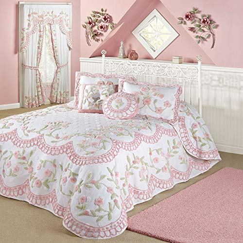 Fantastic Prices! Beatrice Home-Exclusives Cottage Charm Grande Bedspread White