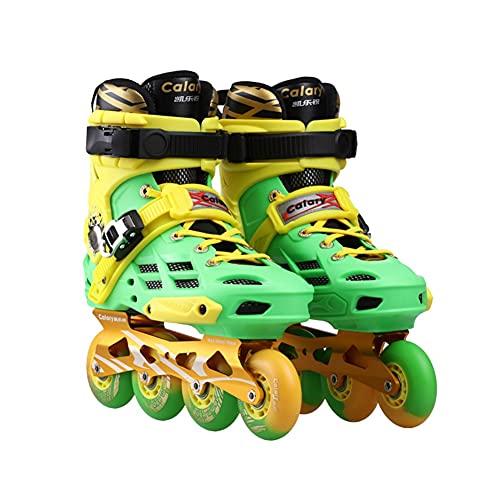 WYHQL Patines en línea para Adultos, Patines de Ruedas para Hombres y Mujeres, Divertidos Patines Deportivos al Aire Libre para Principiantes, tamaño (36-43) (Color : Yellow, Size : 40)