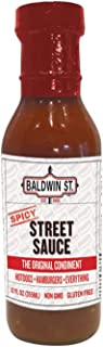 Baldwin St. - Spicy Street Sauce Ketchup - The Original Condiment for Hot Dogs, Hamburgers, and Everything - Case Pack of 6 Bottles (12 oz Each)
