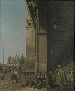 Perfect Effect Canvas ,the Amazing Art Decorative Canvas Prints Of Oil Painting 'Canaletto - Venice - The Piazza San Marco,about 1756', 8x10 Inch / 20x25 Cm Is Best For Basement Decoration And Home Decor And Gifts