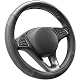 COFIT Microfiber Leather Steering Wheel Cover Universal Size M 37-38cm Black