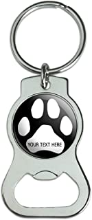 Graphics and More Personalized Custom Paw Print 1 Line Bottle Cap Opener Keychain Key Ring