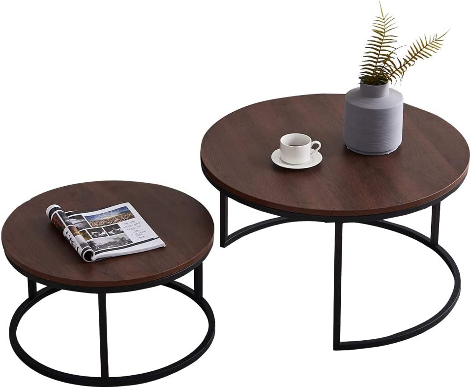 ASSR Modern Nesting Coffee Table New sales Walnut with Year-end annual account Top 2-