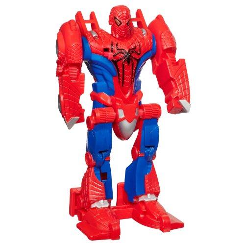 Marvel - 37321 - The Amazing Spider-Man - Flip and Attack Figur - 2 in 1 - Spider-Man verwandelt sich zu Düsenjäger