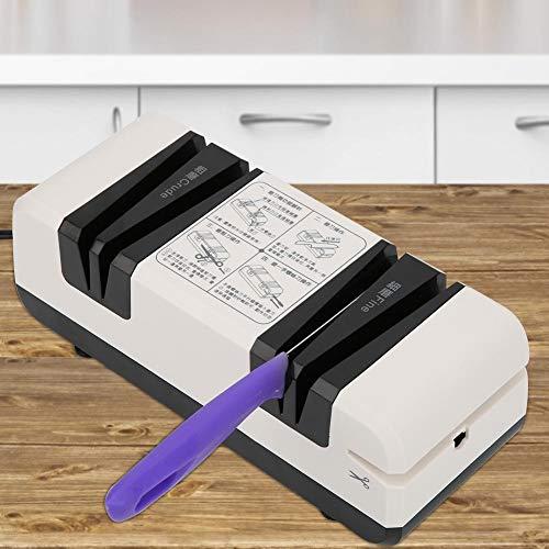 Redxiao~ CN 220V 60W Eléctrica 210x90x80mm Afiladora automática Cuchillo Tijeras Afiladora Afiladora de Cuchillos para el hogar Cuchillas Cuchillos Tijeras Piedra de afilar(Black and White)