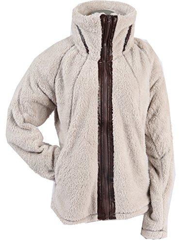 Apparel No. 5 Women's Sherpa Fleece Full Zip Warm Winter Jacket (Large, Oatmeal)