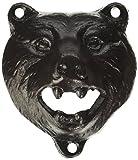 "3"" Brown-Black Cast Iron Bear Wall Mount Beer Bottle Opener Lodge/Cottage Decor"