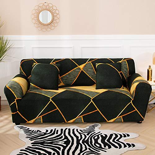 ASCV Funda de sofá a Cuadros Funda elástica Fundas de sofá para Sala de Estar Esquina sofá Toalla Funda de sofá Protector de Muebles A1 3 plazas