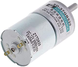 D DOLITY DC12V 10W 100RPM Reductor de Velocidad de Marcha Motor de Engranaje Micro Motorreductor Eléctrico
