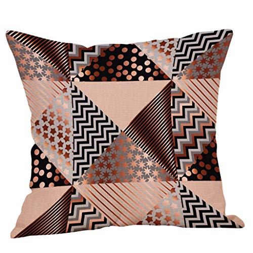 SIRIGOGO Fundas de almohada decorativas de 2019 solo para sofá, sofá o cama, 45,7 x 45,7 cm, diseño moderno de calidad, 100% algodón, naranja, amarillo, negro, blanco