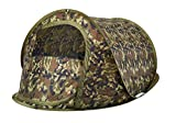 Blitz 2 Tactix Camouflage Tente Legere et compacte Tissu durable UVTex Tough avec traitement hydrofuge 125 x 210 x 90 cm 1.8kg Accueille 2 adultes confortablement DTH-SB2C-C Blitz 2 Tactix pop up tent