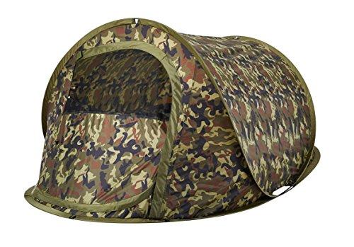 Oztrail Blitz 2 Tactix Tarnung pop-up Zelt, Wurfzelt, Kuppelzelt, Familienzelt, Campingzelt für 2 Personen 120x210x90cm, 1.8kg Feldausrüstung Camouflage. Tarnzelt