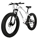 Outroad Mountain Bike 21 Speed Anti-Slip Bike 26 inch Fat Tire Sand Bike Double Disc Brake...