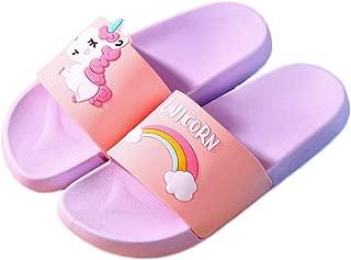 Kids Unicorn Slippers Slide Sandals, Cute Water Shoes Boys Girls Shower Pool Slipper (Toddler/Little Kids)