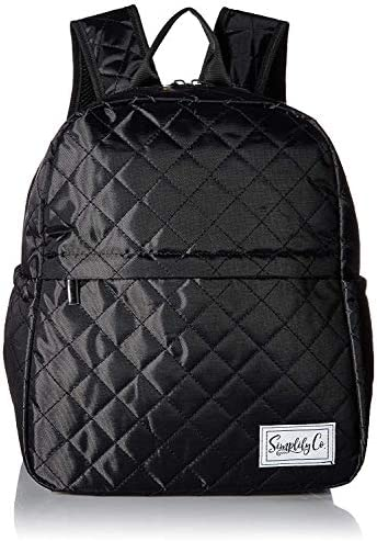 Insulated Mini Backpack Lunch Bag w Padded Straps Drink Side Pockets Black product image