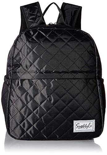 Insulated Mini Backpack Lunch Bag w/Padded Straps & Drink Side Pockets (Black)