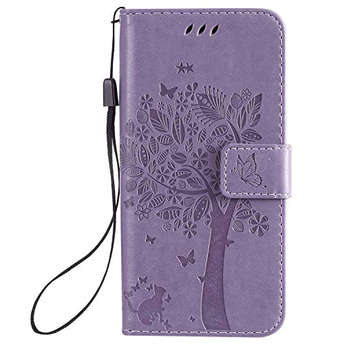 TemUnique Leather Cover Compatible with Samsung Galaxy S20, Lavender Wallet Case for Samsung Galaxy S20