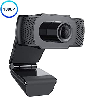 Erasky 1080P Streaming Webcam with Microphone for Desktop Computer, Tablet, Laptop, Gaming, Video, Conference Full HD PC USB Web Camera with Flexible Angle, Dual Microphone Noise-Deduction Face Cam