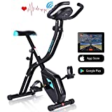 ANCHEER Exercise Folding Bike,Stationary Cycle Indoor Upright Bike, Compact Magnetic Recumbent Bike