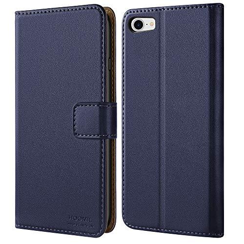 HOOMIL iPhone 8 Hülle, iPhone 7 Hülle, iPhone SE 2020 Hülle, Handyhülle iPhone 8 Tasche Leder Flip Case Brieftasche Etui Schutzhülle für Apple iPhone 8/7/SE 2020 Cover (4,7 Zoll) - Blau