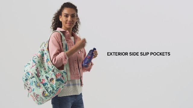 Vera Bradley Signature Cotton XL Campus Backpack, Bedford Blooms