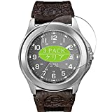 [3 Pack] Synvy Screen Protector, Compatible with Timex Expedition Metal Field Case Size:37mm TPU Film Protectors [Not Tempered Glass]