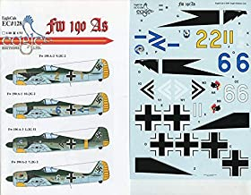 EagleCals Decals 1:32 FW-190 FW190 A's Decal Sheet #32-128