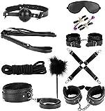 E-DIDI Sports - Kit de equipamiento deportivo para interiores y exteriores, 10 piezas para disfraz de fiesta, color negro T-shirt-A392
