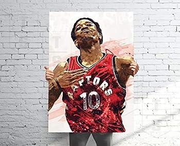 Teevoke Dero_Zan Poster Banner Sport Fan Sport Poster Kids Wall Decor Demar Poster Man Cave Gift for Him/Her Paint Splash Sports Art 11x17 16x24 24x36 Inch  No Frame  #48