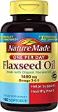 Nature Made Organic Flaxseed Oil 1400 mg 700mg Omega 3 100 Liquid Softgels 3 PACK