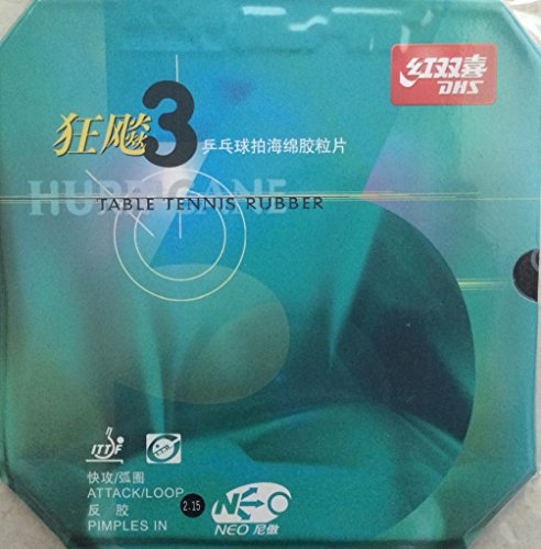 Review Of Hurricane 3 Neo Black Table Tennis Rubber(Black)