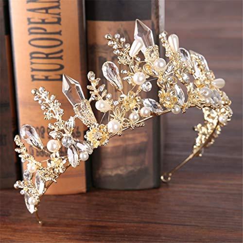 DSGYZQ Bridal Wedding Flower Crown Crown Tocado Crown Crown Diadema Accesorios para el Cabello para Las Mujeres Cumpleaños Crown Joyería,2