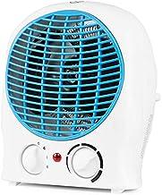 Suinga Calefactor vertical. Dos potencias: 1000W-2000W. Posición de aire frío (ventilador). Control ajustable de la temperatura. Color blanco y azul.