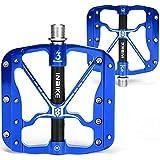 INBIKE Pedali per Ciclismo Petali MTB Flat CNC Lega di Alluminio Ultra Assale Cuscinetto S...