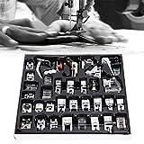 Boquite Presser Foot Set 35Pcs - Accesorio de Kit de Herramienta de prensatelas de Metal multifunción Profesional para el hogar - Organización fácil y ordenada