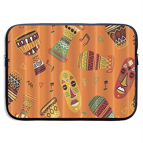 15inch Custodia per borsa per custodia protettiva per laptop idrorepellente Djembe Totem strumento musicale africano