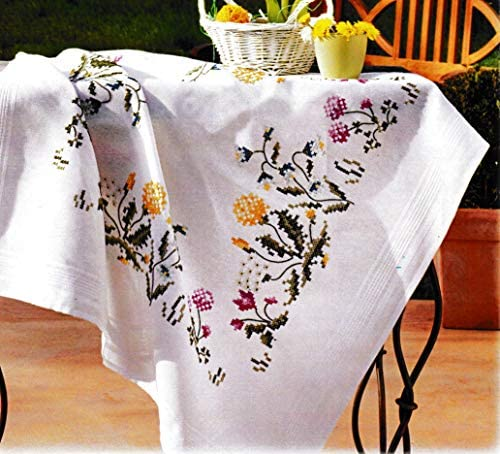 Printed Embroidery Cross Stitch Kit for Tablecloth Duftin Thistle 1353 product image
