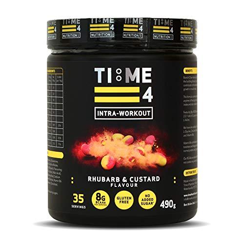 Time 4 Intra-Workout 490g Amino Acid Powder – 35 Servings BCAAs Powder – Fermented BCAA Powders – BCAA Amino Acids - Plant Based Amino Acid (Rhubarb & Custard)…