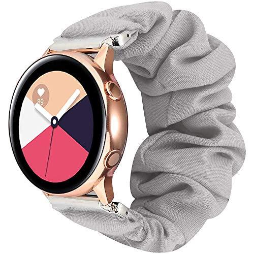 DXFFOK 20 22mm scrunchies Banda de Reloj elástico para Samsung Galaxy Watch 46mm 42mm Active 2 para Huawei Watch GT2 Strap Gear S3 Amazfit BIP Reloj Correa (Band Color : Color 2, Band Width : 22mm)